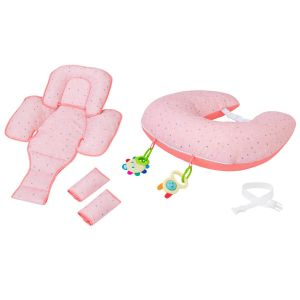 ClevaCushion™ Nursing Pillow & Baby Set Coral