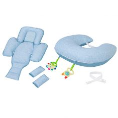 ClevaCushion™ Nursing Pillow & Baby Set Blue