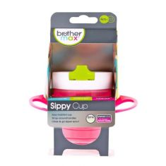 Brother Max EASY HOLD SIPPY CUP Feeding Baby/Toddler Pink-Green- White 4m+ 220ml BN