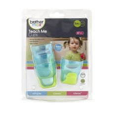 BROTHER MAX TEACH ME CUPS BLUE / GREEN (PK 4) BABY SIZE