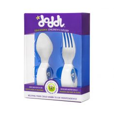 Doddl Spoon & Fork Set: Blueberry Blue