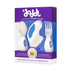 Doddl Knife, Fork and Spoon Set: Blueberry Blue
