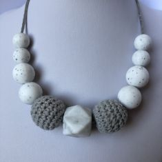 Georgia Teething Necklace - Grey
