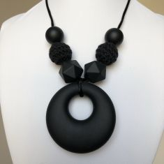 Eliza Teething Necklace - Black